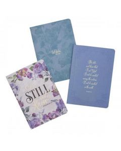 "Juego De 3 Cuadernos Mediano ""Be Still And Know"" Psalm 46:10"