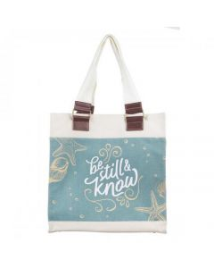 Bolsa Tote Canvas - Be Still Psalm 46:10