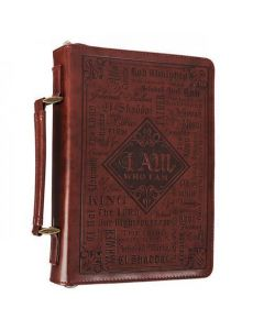 Names of God in Brown Luxleather Bible Cover - Medium