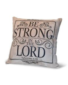 Cojin Piel Be Strong Lord Decorativa Elegante