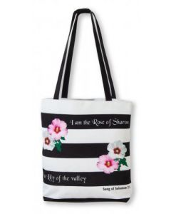 "Bolsa De Tela Canvas ""Rose Of Sharon"""