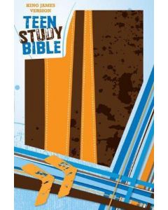 Bible KJV Teen Study Burnt Orange Fudge Soft Leather Look