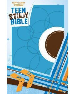 Bible KJV Teen Study Sky Blue Fudge Soft Leather Look