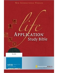 Study Bible Life Application Niv Leather Fine Large Size Black Color