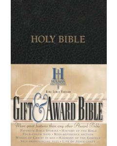 Bible KJV Gift and Award Imitation Leather Black Personal Size
