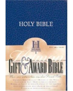 Bible KJV Gift & Award Imitation Leather Blue