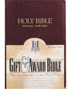 Bible KJV Gift & Award Imitation Leather Burgundy
