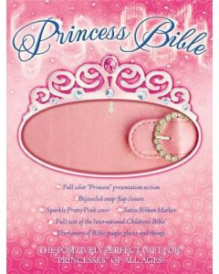 Bible ICB Princess Imitation Leather Pink Jeweled Snap Front Closure