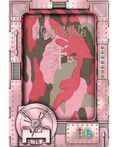 Bible ICB Small Hands Compact Pink Camo Cloth