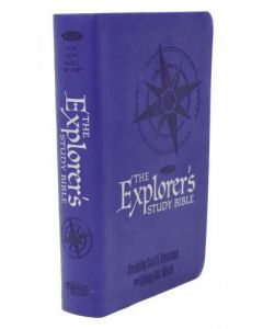 Bible NKJV Explorer's Study Imitation Leather Blue Personal Size
