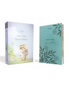 Biblia NVI Precious Moments Color Aqua Tamaño Manual Imitacion Piel
