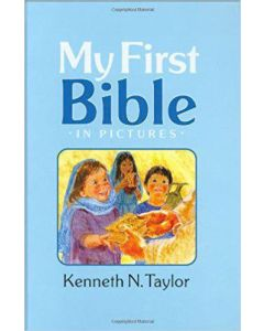 My First Bible In Pictures Hardcover Blue Kenneth N. Taylor