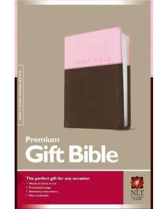 Bible NLT Premium Gift Imitation Leather Pink Brown