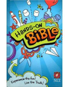 Bible NLT Hands On Experience the Fun Hardcover Blue
