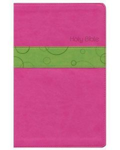 Bible NLT Premium Gift Imitation Leather Bubble Gum Pink Pistachio