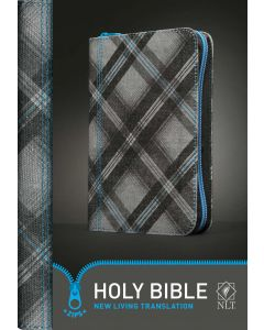 Bible NLT Zips Canvas Cover Zipper Blue
