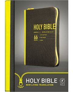 Bible NLT Zips Canvas Cover Yellow Zipper