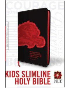 Bible NLT Kids Slimline Black Lion Red Black