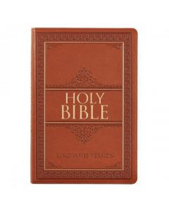 Bible KJV Large Print Imitation Leather Tan Index