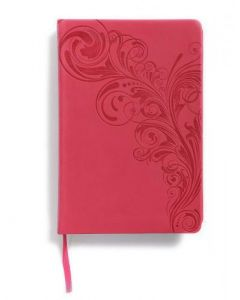 Bible NKJV Large Print Personal Size Reference Imitation Leather Pink Index
