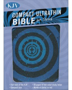 Bible KJV Ultrathin Teens Imitation Leather Blue Vortex