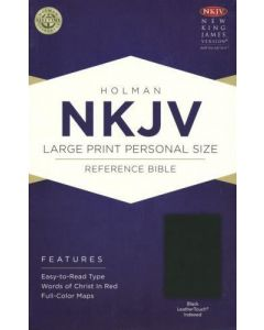 Bible NKJV Large Print Personal Size Reference Imitation Leather Black Index