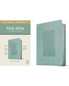 Biblia en ingles NLT Tamaño Manual, Letra Grande, Sentipiel Color Teal, Filament Edition