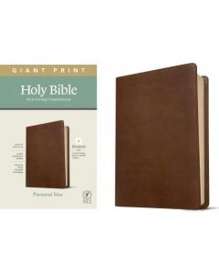 Biblia en ingles NLT Tamaño Manual, Letra Grande, Sentipiel Color Cafe, Filament Edition