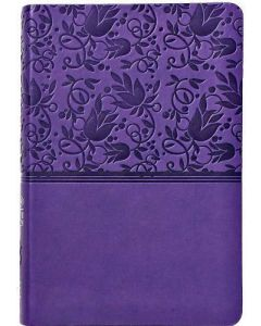 Bible NKJV Compact Ultrathin Imitation Leather Purple
