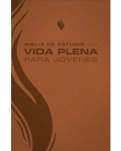 Biblia RVR1960 Estudio Vida Plena Para Jovenes, Tamaño Manual, Piel, Color Marron